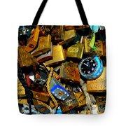 Jumble Of Locks Tote Bag