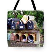 Jumbled Mailboxes Tote Bag