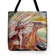 Jump The Rainbow Tote Bag