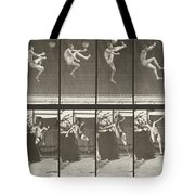 Jumping And Kicking Tote Bag