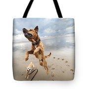 Jumping Dog Tote Bag by Eldad Carin
