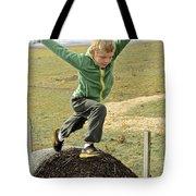 Jumping Haystacks Tote Bag