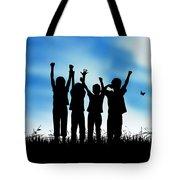 Jumping Kids Tote Bag