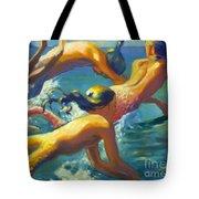 Jumping Mermaids Tote Bag