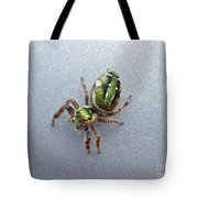 Jumping Spider - Green Salticidae Tote Bag