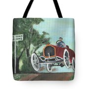 Jumping The Tracks Tote Bag