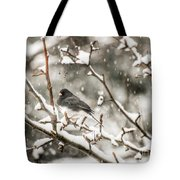 Junco In The Snow Tote Bag