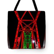 Junction Bridge - Red Tote Bag