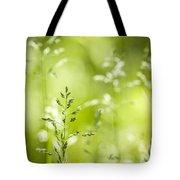 June Green Grass Flowering Tote Bag