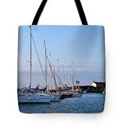 June Morning - Lyme Regis Harbour Tote Bag