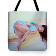 June Sandy Beach Tote Bag