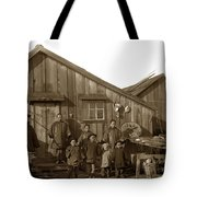 Jung San Choy And Chinese Family Pescadero Village Pebble Beach California Circa 1895 Tote Bag