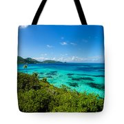 Jungle And Turquoise Water Tote Bag