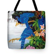 Jungle Chats Hand Embroidery Tote Bag