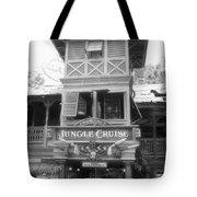 Jungle Cruise Adventureland Disneyland Bw Tote Bag