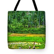 Jungle Homestead - Paint  Tote Bag