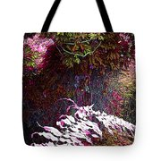 Jungle Red Tints Tote Bag