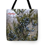 Juniper Berries - Happy Holidays Tote Bag