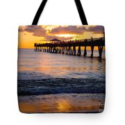 Juno Beach Pier Tote Bag