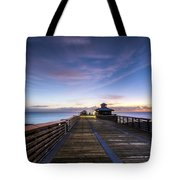Juno Beach Pier Tote Bag
