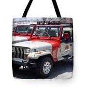 Jurassic Park Jeeps Tote Bag