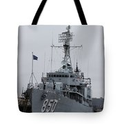 Just Another Battleship Photo Of The Uss Joseph P Kennedy Jr  Tote Bag