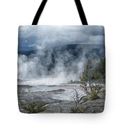 Just Before The Storm - Mammoth Hot Springs Tote Bag by Sandra Bronstein