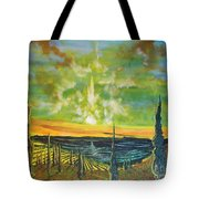 Just Beyond The Sea Tote Bag