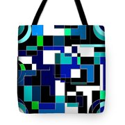 Just Colors And Lines Blue Tote Bag