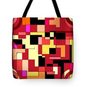 Just Colors And Lines Red Tote Bag