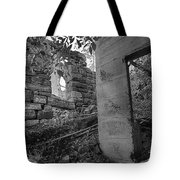Just Left There Jerome Black And White Tote Bag