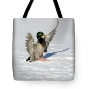 Just Like Skiing Tote Bag