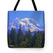 Just Over The Hill Mt. Rainier Tote Bag