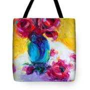 Just Past Bloom - Roses Still Life Tote Bag