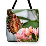 Just Pink Butterfly Tote Bag