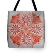 Just Red Mandala Tote Bag