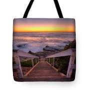Just Steps To The Sea Tote Bag