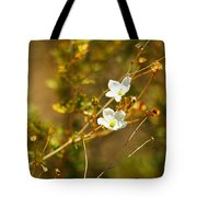 Just Two Little White Flowers Tote Bag