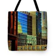 Juxtaposition Of Pittsburgh Buildings Tote Bag