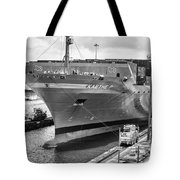 Kaethe P Container Ship Panama Canal Monochrome Tote Bag
