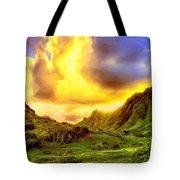Kahana Valley Sunset Tote Bag
