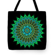 Kaleidoscope 1 Blues And Greens Tote Bag