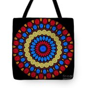 Kaleidoscope Of Colorful Embroidery Tote Bag