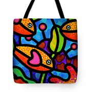 Kaleidoscope Reef Tote Bag by Steven Scott