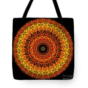 Kaleidoscope Stained Glass Window Series Tote Bag