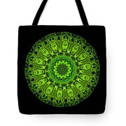 Kaleidoscope Triptych Of Glowing Circuit Boards Tote Bag