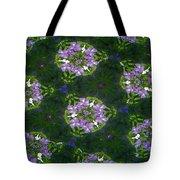 Kaleidoscope Violets Tote Bag