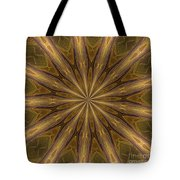 Kaleidoscope With Gold Tote Bag