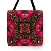 Kaleidscope Made From Image Of Coleus Plant Tote Bag
