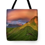 Kalsoy Island And Kallur Lighthouse Tote Bag